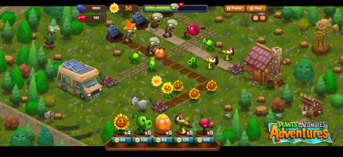 plants vs zombies para facebokk