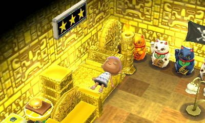 Animal crossing muebles oro