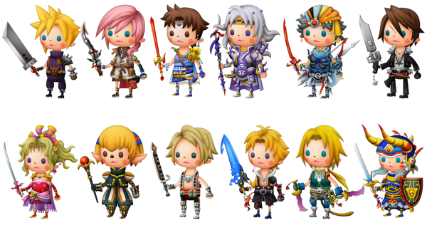 Chibis de Final Fantasy
