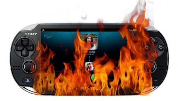 PS Vita on Fire