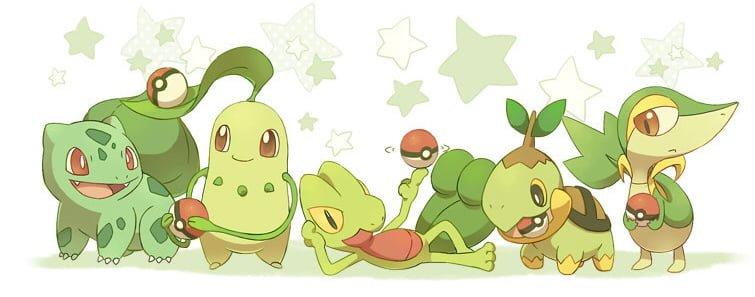 Starters Pokemon Planta