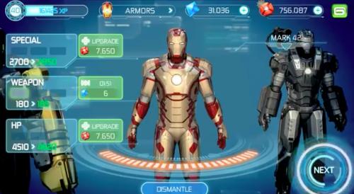 trucos para Iron Man 3 iPad